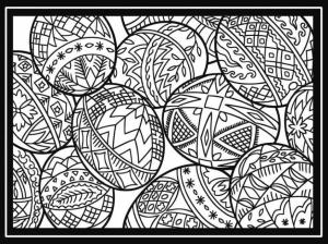 Adult Easter Coloring Pages Difficult Easter Eggs Drawing