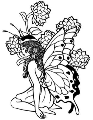Adult Fairy Coloring Pages 6wq1