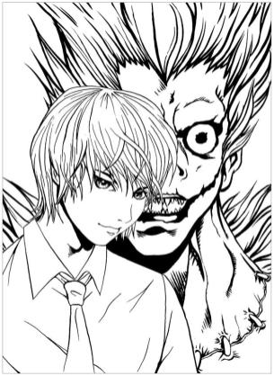 Anime Coloring Pages Death Note