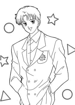 Anime Coloring Pages Handsome Guy