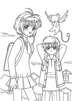 Anime Coloring Pages for Girl 4skr