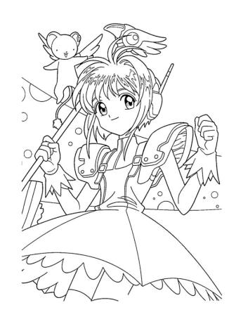 Anime Coloring Pages for Girl 5gks