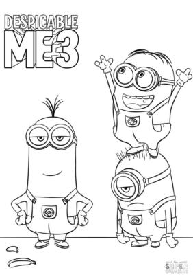 Despicable Me 3 Minion Coloring Pages to Print