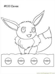 Eevee Coloring Pages 5da7