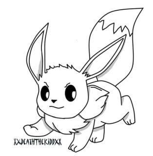 Eevee Pokemon Coloring Pages for Kids 1nm2