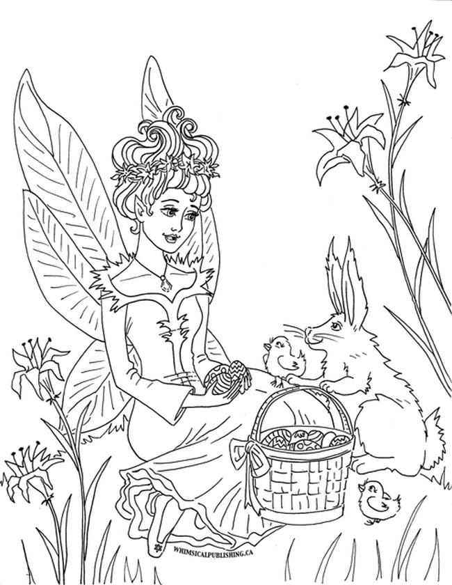 Free Fairy for Adults Coloring Pages 1yt7
