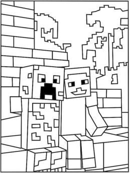 Free Minecraft Coloring Pages to Print 3bff