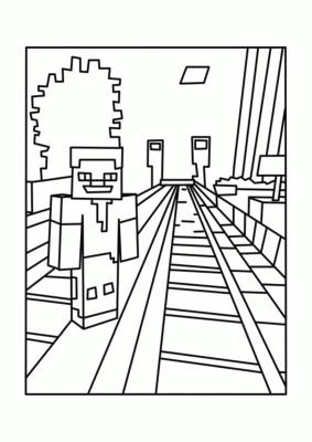 Free Minecraft Coloring Pages to Print 4sml