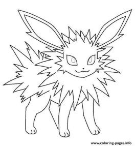 Jolteon Eevee Coloring Pages Pokemon hj5