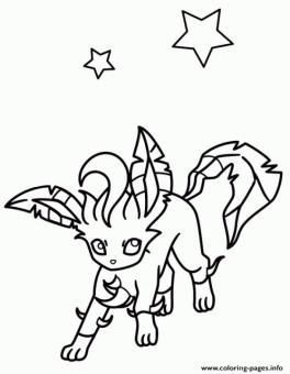 Leafeon Eevee Coloring Pages Pokemon kl3