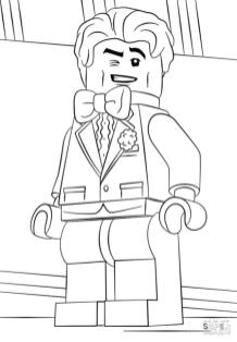 Lego Batman Coloring Pages Bruce Wayne the Gentleman
