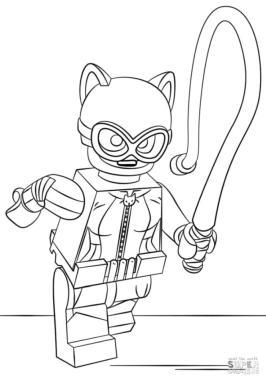 Lego Batman Coloring Pages Catwoman