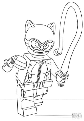 Lego Batman Coloring Pages Catwoman