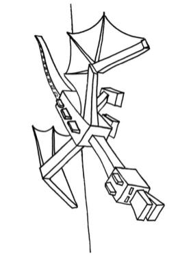 Minecraft Coloring Pages Ender Dragon