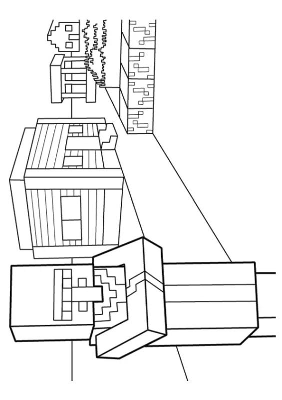 Minecraft Coloring Pages Minecraft Villager