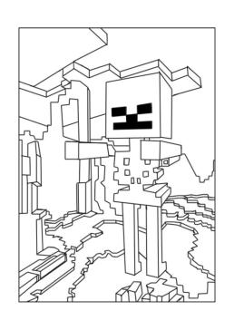 Minecraft Coloring Pages for Kids 4zmb