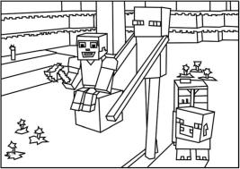 Minecraft Coloring Pages for Kids 6frn