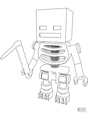 Minecraft Skeleton Coloring Pages uj1