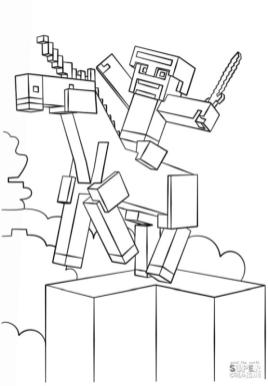 Minecraft Unicorn Coloring Pages for Toddlers un1