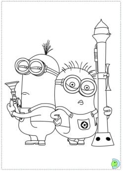 Minion Coloring Pages Free for Toddlers 1iye