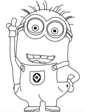 Minion Coloring Pages Free for Toddlers 3ryh