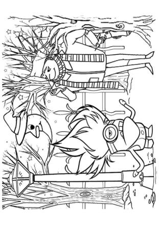 Minion Coloring Pages Halloween Printable