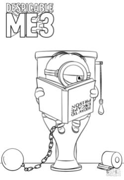 Minion Coloring Pages from Despicable Me 3