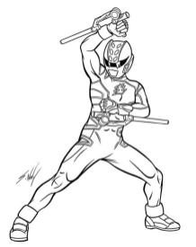 Power Rangers Coloring Pages Free 7rtf