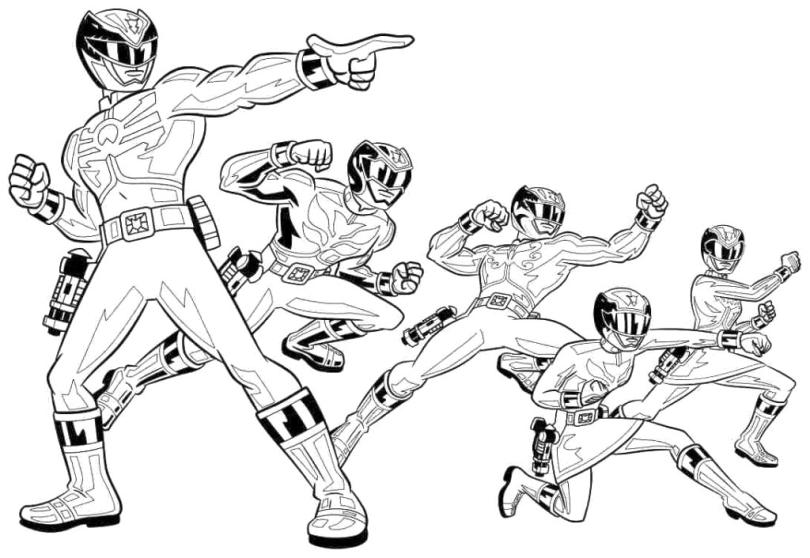 Power Rangers Coloring Pages Free 9iek
