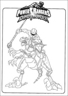 Power Rangers Coloring Pages for Kids 8dnt