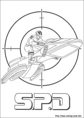 Power Rangers S.P.D. Coloring Pages