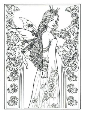 Printable Fairy Coloring Pages for Adults 1pl6