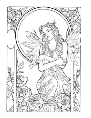 Printable Fairy Coloring Pages for Adults 6lt1