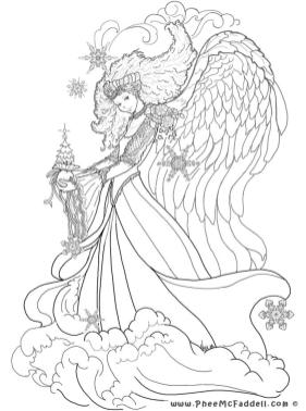Printable Fantasy Coloring Pages for Adults 1bwa