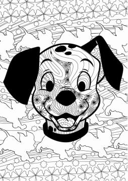 Adult Coloring Pages Disney 101 Dalmatians Coloring for Grown Ups