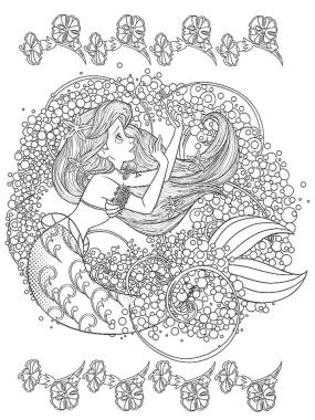 Adult Coloring Pages Disney Disney Little Mermaid Ariel Coloring for Grown Ups