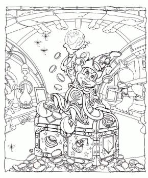 Adult Coloring Pages Disney Mickey Mouse Fantasia