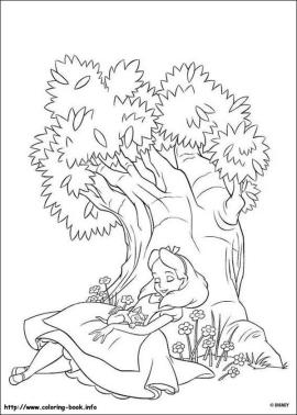 Alice In Wonderland Coloring Pages 5s6h