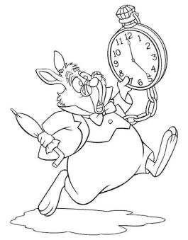 Alice In Wonderland Coloring Pages for Kids 7tu8