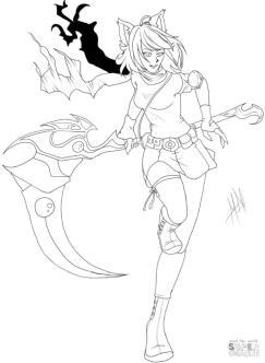 Anime Girl Coloring Pages Printable gi48