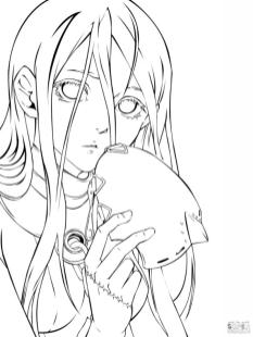 Anime Girl Coloring Pages Printable ws14