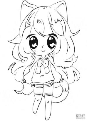 Anime Girl Coloring Pages lt21