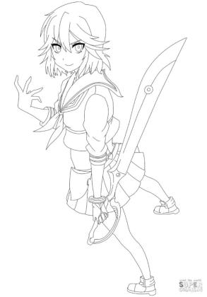 Anime Girl Coloring Pages ry91