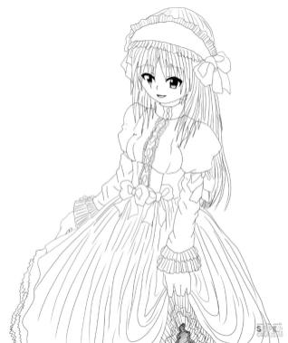 Anime Girl Coloring Pages tr51
