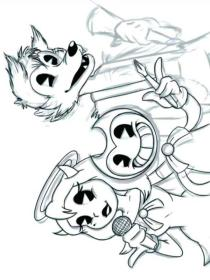 Bendy and The Ink Machine Coloring Pages bst5