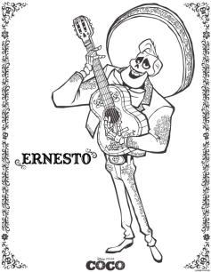 Coco Coloring Pages Ernesto er03