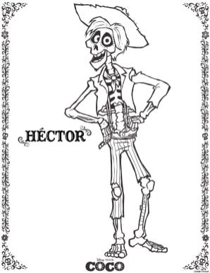 Coco Coloring Pages Hector yt07