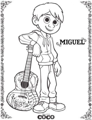 Coco Coloring Pages Miguel mg75
