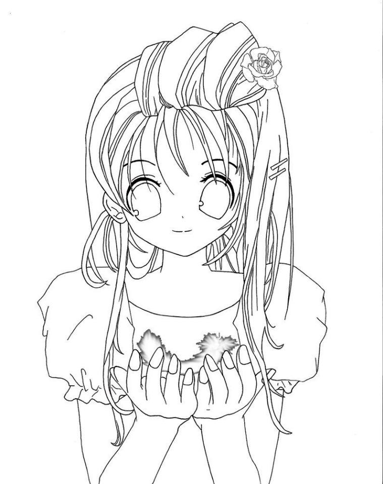 Kawaii Anime Coloring Pages : kawaii, anime, coloring, pages, Printable, Anime, Coloring, Pages, EverFreeColoring.com