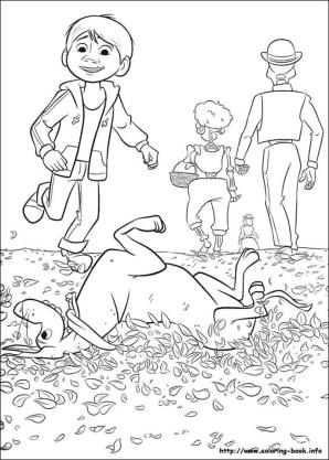 Disney Coco Coloring Pages Free Dante and Coco Playing on the Field